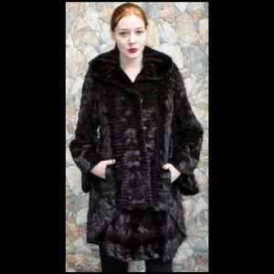 d1200116d7 Marc Kaufman Furs. Mahogany Sheared Mink Fur Sculptured Stroller